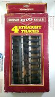The Original Bachmann Big Haulers 4 Pack Straight Train Tracks G Scale No. 94511