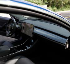 Carbon Fiber /Black Central Control Dashboard Panel Trim Cover For Tesla Model 3