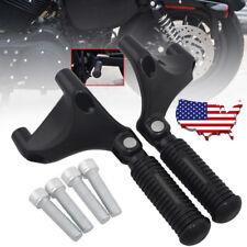 US Passenger Rear Footrest Pegs for Harley Sportster XL883 1200 2004-2013 Black
