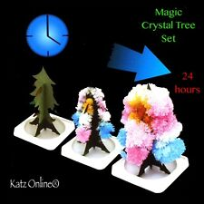 Kids Magic Growing Crystal Tree Kit Paper Christmas Decoration Science Toy Gift