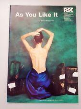 AS YOU LIKE IT William Shakespeare 1996 RSC THEATRE PROGRAM Stratford-upon-Avon