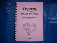 TRIUMPH PRE-UNIT PARTS BOOK FOR 1952 6T,5T,TR5,T100