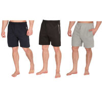 Men's Jogging Shorts Summer Fleece Jersey Zip Pocket Sports Gym Plus Size S-6XL