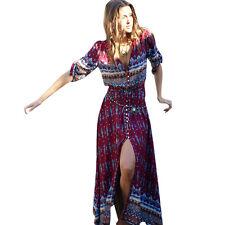 Bohemian Womens Floral Boho Long Maxi Dress Summer Cocktail Party Skirt Sundress