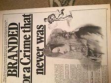 u2-4 ephemera 1970s folded article the case of marie cappelle france