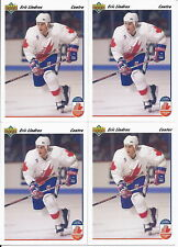 Eric Lindros w/ Gretzky 1991-92 Upper Deck CC 4-Card Lot # 9 1-English 3-French