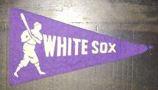 "Vintage Original 1936-38 BF3 Chicago White Sox Mini FELT BASEBALL PENNANT 4 1/4"""
