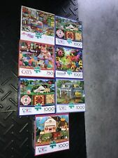 Buffalo Lot of 7 1000 + 750 piece puzzles Brand new - Unopened