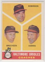 1960 Topps BALTIMORE ORIOLES COACHES - Baseball Card # 455 - High Number