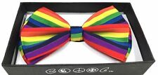 New GAY PRIDE RAINBOW FLAG Lesbian Bisexual LGBT Tuxedo Bow Tie Stripe