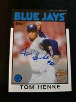F28 2020 Topps Archives Fan Favorites Auto #FFA-THE Tom Henke Toronto Blue Jays