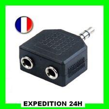 Adaptateur Double (2) Jack 3,5 mm Femelle - Jack 3.5 mm Mâle - Coupleur