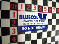 Bluecol U Antifreeze Sticker - Austin Morris Wolseley Riley MG Healey Rootes