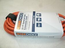 WorkChoice 25' Extension Cord 16/3 1625 Watts Indoor/Outdoor 13 Amp