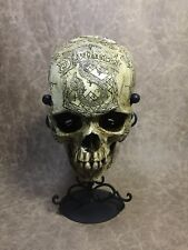 Slytherin Theme Real Human Skull Replica carved my Zane Wylie Harry Potter