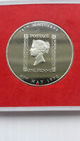 ROYAL MAIL*1840-1990 150TH ANNIVERSARY OF BLACK PENNY STAMP MEDALLION IN CASE