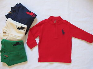 NWT Ralph Lauren Boy's Big Pony Long Sleeves Pullover Sweater Size 4,6,7,S(8)