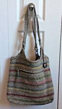 The SAK Belle Hand-Crafted Crochet Tote Purse Bag-Multi Color