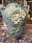 Roseville Pottery White Rose Vase 991 -12