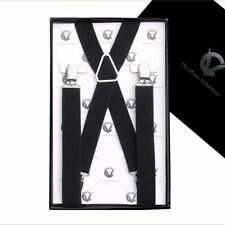 Men's Black X2.5cm Extra Large Braces  Mens Suspenders