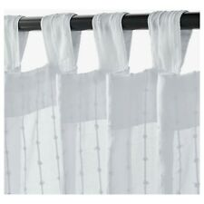 IKEA Matilda Sheer Curtains White Cotton 1 Pair (140x250cm)  • MISSING PACKAGING