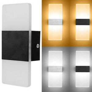 2PCS Modern LED Wall Light Up Down Cube Indoor Outdoor Sconce Lighting Lamp