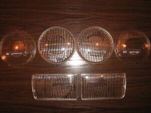 BMW E30 E32 E34 headlights glass lens Complect