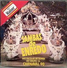 SAMBAS de ENREDO : DAS ESCOLAS DE SAMBA DO GRUPO 1A CARNIVAL 90 LP W/ INSERT NM
