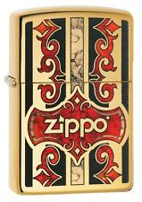 Zippo 29510, Zippo Logo, Fusion,  High Polish Brass Finish Lighter