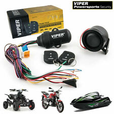 Viper Alarm 1-Way Security System Motorcycle Powersports Water Resisant 2 Remote