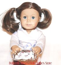 Santa Claus Christmas Cookies on Silver Tray 18 in Doll Food For American Girl