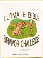 Bible Survivor Challenge Child Ministry Activity Book-10 week activity series