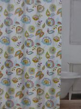 "Caro Floral Fabric Shower Curtain 72"" x 72"" Nip"