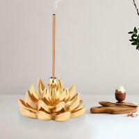 Alloy Incense Burner Sandalwood Sticks Holder Tray Plate Lotus For Stick Cone