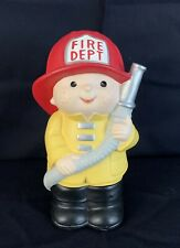 Vintage Collectible Bank 1983 Fireman with Hose From Lucy & Me By Enesco