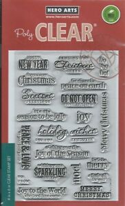 """""""Christmas Messages"""" ClearDesign Stamp Set by Hero Arts"""
