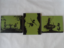 Alice In Wonderland Canvas Paintings - Set of 3 Alice, Mad Hatter, Caterpiller,