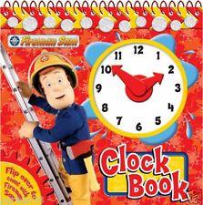 Fireman Sam Apprendre à lire l'heure clock Livre avec TRANSPORTER Mains & STAND