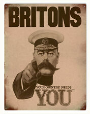 Britons Your Country Needs You Patriotic Sign