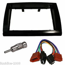 FIAT BRAVO 198 2007 ONWARDS BLACK DOUBLE DIN FASCIA FACIA FITTING PACKAGE KIT
