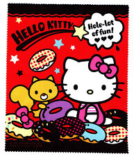 Hello Kitty red colorful donuts micro fiber Glasses camera Cleaning Cloth