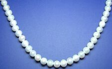 """15"""" NATURAL WHITE Freshwater Pearl Round Potato ~52 Beads approx 9mm P10"""