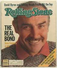 OLD ROLLING STONE MAGAZINE ISSUE 407 SEAN CONNERY JAMES BOND 007 DAVID BYRNE '83
