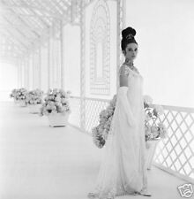 AUDREY HEPBURN 8x10 PICTURE BEAUTIFUL WHITE DRESS PHOTO
