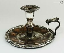 WILLIAM IV OLD SHEFFIELD PLATE CHAMBER CANDLESTICK c1830 Decorative Mounts