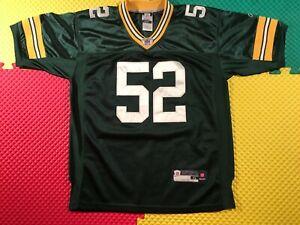 Clay Matthews Green Bay Packers #52 Reebok NFL Green Jersey Youth Size XL 16-18
