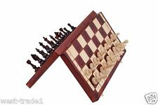 Brand New♞Hand Crafted  Magnetic Wooden Chess Set  Great Pieces and Board ♜