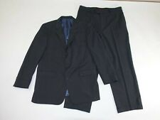 Fumagalli Men's 3 Button Suit Size 46 Long 38 x 30 Charcoal Gray 100% Wool 46L