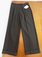 NWT Liz Claiborne Lizsport Women's Career Gray Slacks Pants Sz 14P Cuffs Pleats