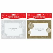 2 x Packs Of Christmas Photo Cards Silver & Gold 12 Cards 6 x 4 Inch Photo